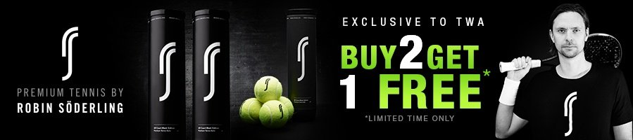 Robin Soderling RS All Court Black Edition Tennis Balls - Buy 2 get 1 free